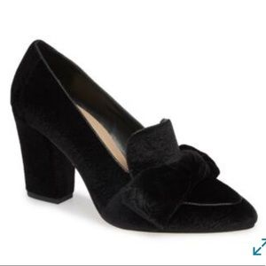 Bella Vita pointy toe bow block heel pumps 9N NWT